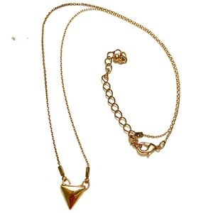 Dainty Gold Triangle necklace